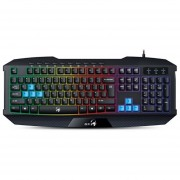 TECLADO GENIUS K215 INTELIGENTE SCORPION GAMER RETROILIMINADO