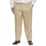 Amazon Essentials Essentials Men's Big & Tall Classic-Fit Wrinkle-Resistant Pleated Dress Pant, Khaki, 54W x 30L