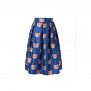 Impresión Digital Faldas Plisadas Imitación De Satén -11#