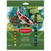 Culori acrilice 12 ml 24 buc/set Derwent Academy