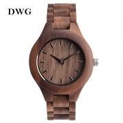 DWG Analog Luxury Wood Watch for Women Newest Quartz Watch Maple Walnut Wooden Wrist Watch for Girls Orologi Donna Reloj Mujer