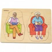 Puzzle stratificat Bunica si Bunicul