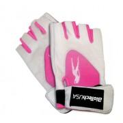 Biotech Kesztyű bőr fehér-pink XL (Lady1)