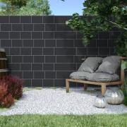 Jarolift Rollo de Ocultación de PVC con Clips de Sujeción, Negro, 19cm x 2,6m Conjunto de 2 uds.