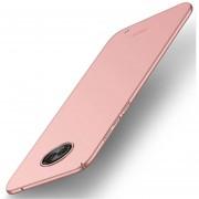MOFI Para Motorola Moto G6 Plus Frosted PC Ultra Delgado Borde Totalmente Envuelto Volver Funda Protectora (rosa De Oro)