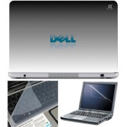 Finearts Laptop Skin 15.6 Inch With Key Guard & Screen Protector - Dell Grey