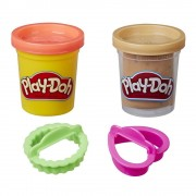 PLAY-DOH COOKIE CANISTER PLAY FOOD SET WITH 2 NON-TOXIC COLORS (CHOCOLATE CHIP COOKIE) - HASBRO (HBE5100-E5205)