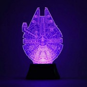 ELECTROPRIME 3D Bulbing Millennium Falcon Star Wars Color Changing Table Lighting 7 Color