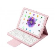 Synthetic Leather Bluetooth Keyboard Case for iPad 9.7 (2018/2017) / Pro 9.7 / Air 2 / Air - Apple Keyboard (Baby Pink)