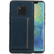 Staand Back Cover 1 Pasjes voor Huawei Mate 20 Pro Navy
