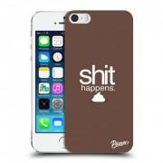 Átlátszó szilikon tok az alábbi mobiltelefonokra Apple iPhone 5/5S/SE - Shit happens