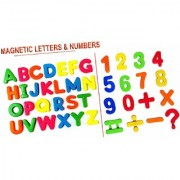 VEEJEE Magnetic Learning English Capital Alphabets and Numeric Letters ABCD 1234 Multi Colour for Kids.