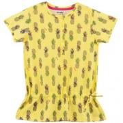 Endo Bluzka z falbanką w kwiatowy deseń dla dziewczynki