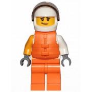 cty1002 Minifigurina LEGO City-Jetskier fata cty1002