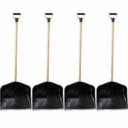 Pachet 4 bucati Lopata din plastic cu coada si maner Pentru zapada