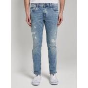 TOM TAILOR Josh Regular Slim jeans met Offset Coin Pocket, vintage stone wash denim, 33/34