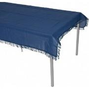 Geen Buiten tafelkleed/tafelzeil navy blauw kant 180 x 140 cm