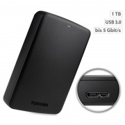 "Toshiba Canvio Basics Externe Festplatte 2,5"", 1 TB, USB 3.0"
