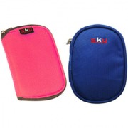 Sky Hard Disk Pouch Combo Pink With Navy Blue