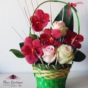 Cos floral Vanda si Trandafiri