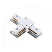Egyfázisú sín adapter T típus fehér
