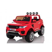 Baybee Range Rover Evoque Sport Battery Operated Car with Double Motor, Double Battery and R/C with 50Kg Weight Capacity (Red)