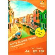 Printflow Compatível: Papel fotográfico jato tinta A4 Mate (128g / 100 folhas)