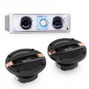 Auna MD-170-BT CAR-HIFI-SET, autoradio + difuzor pe 4 căi, MP3, USB, SD, BT (PL-8670-1123)
