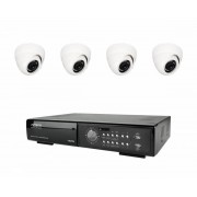 AV-TECH Övervakningspaket inomhus 4 kameror, DVR, 500GB hårddisk