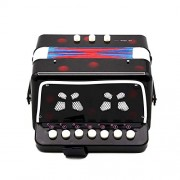HATCHMATIC HOT Sale Mini Small Children Keyboard Accordion Rhythm Educational Musical Instrument Band Toy for Kids: Black