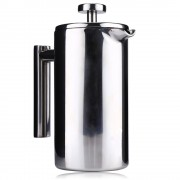 1000 ML Rvs Franse Koffiekan met Filter Permanente Koffie Filter Manden Espresso Koffiezetapparaat Dubbele Muur Koffiepot MyXL