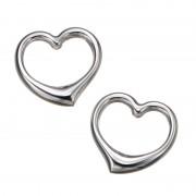 18K ビッグハート ホローチャーム【QVC】40代・50代レディースファッション