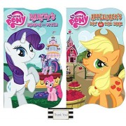 My Little Pony Raritys Fashion and Style and Applejacks Day on the Farm Board Books, 2 Pack