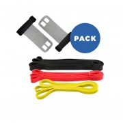 Pack 3x Súper Bandas Elásticas De Látex + Calleras Crossfit