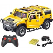 Zest 4 Toyz 1:16 Scale Rechargeable R/C H2 Hummer with Opening Doors & Glowing Headlights. (Yellow)