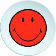 Farfurioara Smiley Deep Portocaliu/Alb, Ø20 cm