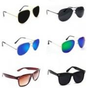 Sulit Aviator, Wayfarer Sunglasses(Black, Blue, Black, Green, Brown, Black)