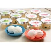 【夏の贈り物】 ラ・フランス・白桃アイス各90ml×6個セット