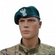 """Beret szyty wojskowy zielony """"Klasa Mundurowa"""" z orzełkiem"""