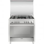 Glem Gas M965vic Cucina 90x60 5 Fuochi A Gas Forno A Gas Ventilato Con Grill Ele