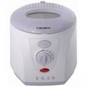 Фритюрник Crown CDF-1512, 1200W мощност, 1.5 литра вместимост, Бял/Син