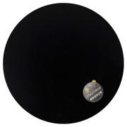 Zwart, rond tafelbad 'PLANO'