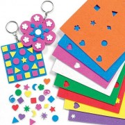 Baker Ross Mini Sticker Shapes - 1200 Mini Foam Stickers in assorted colours and designs including Hearts, Stars & Triangles. Size 10mm-12mm.