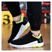Zapatos Deportivos Para Unisexo Suelas Gruesas Aumentar La Altura Casual Tenis -Negro Y Verde