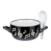 Music Sales Music Note Bowl Spoon White