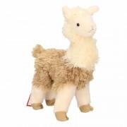 Merkloos Boerderijdieren knuffel lama wit/bruin 28 cm