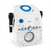Sistemul Auna Starmaker Karaoke BK CD Bluetooth AUX LED efect de iluminat 2 x microfon (CS13-StarMaker WH)