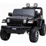 Masinuta electrica 4x4 Premier Jeep Wrangler Rubicon 12V roti cauciuc EVA scaun piele ecologica negru