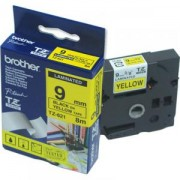 Лента Brother TZ-621 Tape Black on Yellow, Laminated, 9mm Eco - TZE621