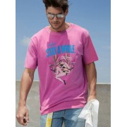 Guess T-Shirt Tropische Print - Roze multi - Size: Extra Small